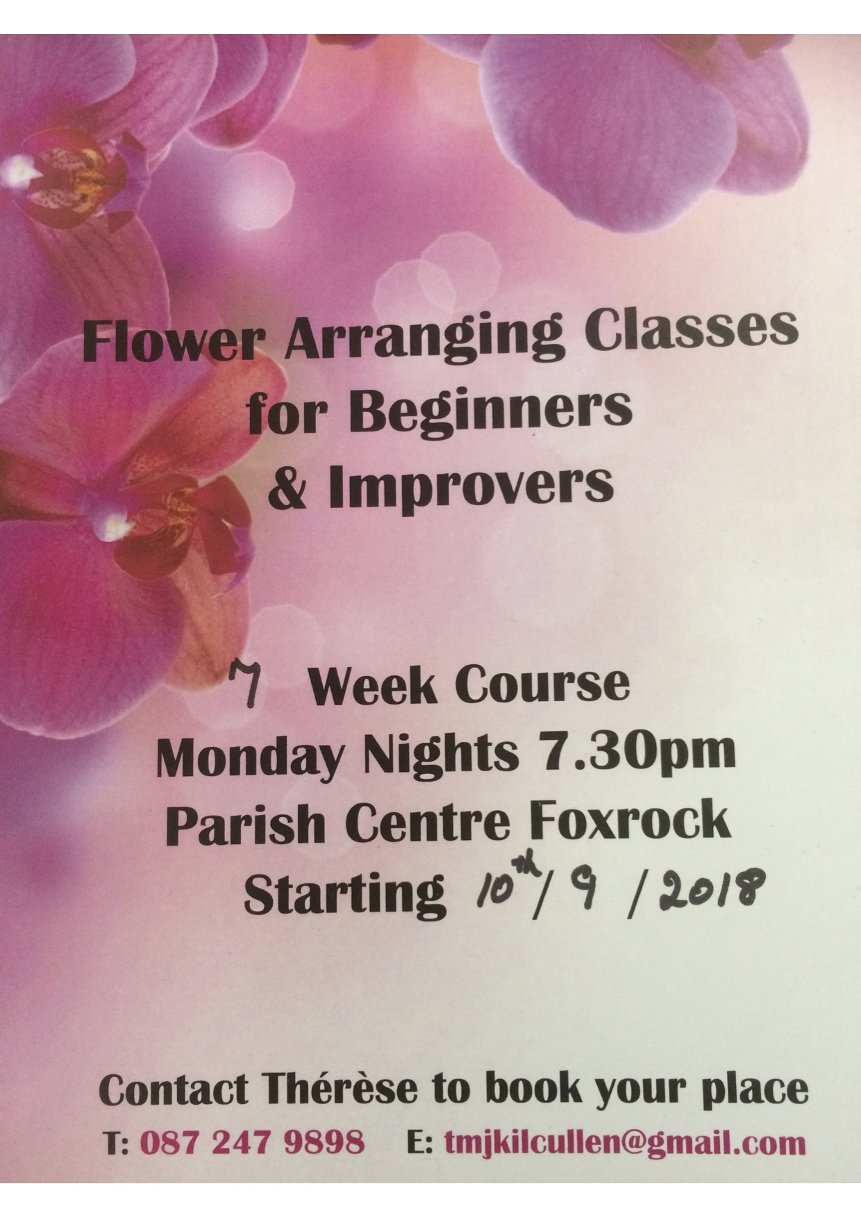Starts Monday 19th November! Christmas Floral Decorations Classes